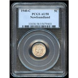1941c Newfoundland Five Cents