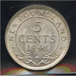 1941c Newfoundland Five Cents