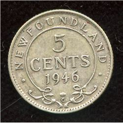 1946c Newfoundland Five Cents