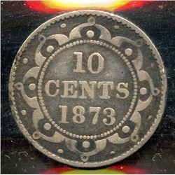 1873 Newfoundland Ten Cents