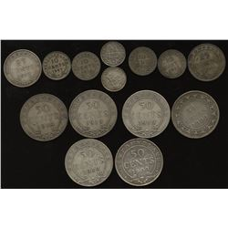 Newfoundland Lot of Silver Coinage