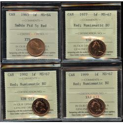 Lot of 4 - ICCS Graded Coins
