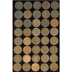 Better Quality Large One Cent Assortment of 40 Coins