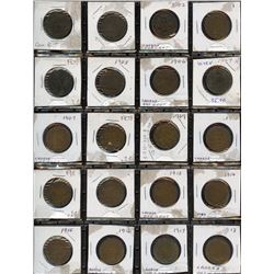 One Cent Collection with Key Dates and 2006 Magnetic Penny