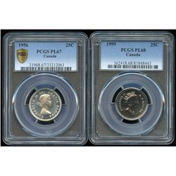 1956 & 1999 Twenty-Five Cents - Lot of 2 PCGS Graded Coins