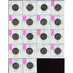 Millennium Quarters - Lot of 18 Minor Varieties