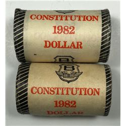 Constitution & Cartier - Lot of 2 Nickel Dollar Rolls