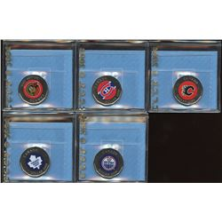 Lot of 5 CCCS Graded 2008 NHL Dollars from Puck Series