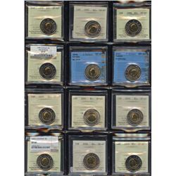 Superb ICCS & CCCS Graded Collection of Toonie Coins