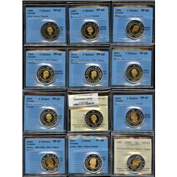 Superb ICCS & CCCS Graded Collection of Toonie Coins - Part 2