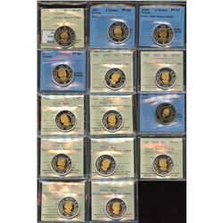 Superb ICCS & CCCS Graded Collection of Toonie Coins - Part 3