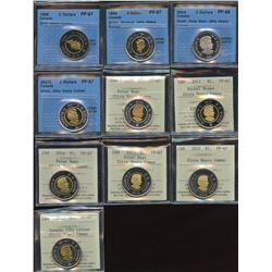 Superb ICCS & CCCS Graded Collection of Toonie Coins - Part 4