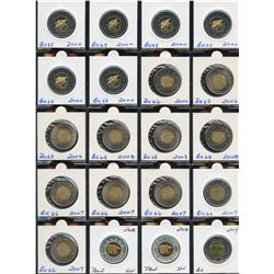 Lot of 27 Canadian Toonies