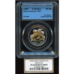 1999 Gold Nunavut $2 Coin