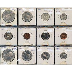 1966 & 1967 Complete Coins Sets