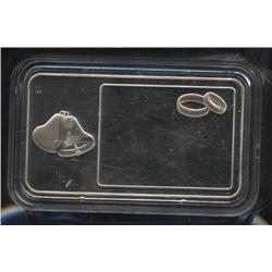 Royal Canadian Mint .9999 1oz Fine Silver Wedding Bar