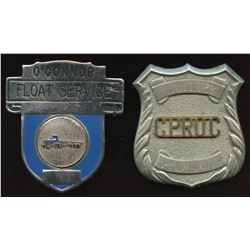 Military Police and O'Connor Float Service Badges
