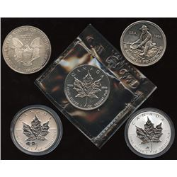 Pure Silver Rounds - Lot of 5