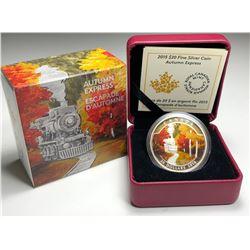 2015 $20 CANADA Coloured Coin – Autumn Express (NO TAX)