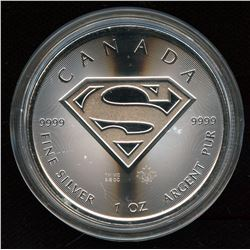 2016 $5 CANADA SUPERMAN SILVER MAPLE LEAF