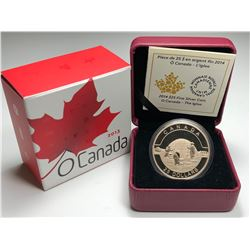 2013 $10 O CANADA - MAPLE LEAF COLOURED FINE SILVER COIN (NO TAX)