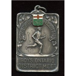 Ontario Athletic Commisions Boys Ontario District Meet Silver Medal