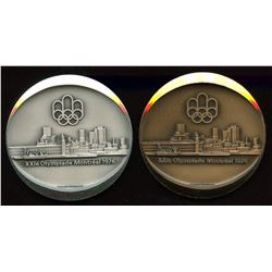 Official 1976 Montreal Olympic Games Medallion - Set of Silver & Bronze
