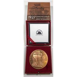 1927 Diamond Jubilee Confederation Medal Re-strike - 10 oz. Bronze