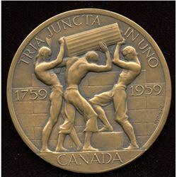 1959 Bicentennial of the Fall of Quebec Medal