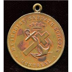Methodist Sabbath Schools Montreal Brass Medal