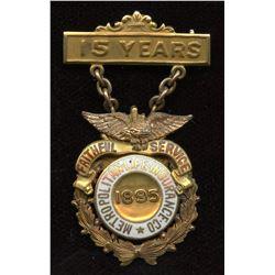 15 Year award of Metropolitan Life Insurance Company Gold Medal