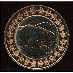 Royal Canadian Mint Polar Bear & RCM President Danielle Wetherup, Bi-Metallic Mint Medal 36 mm
