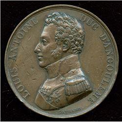 1819 Louis Antoine D'artois, Duke of D'angouleme Medal