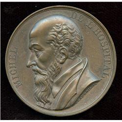 Michel de L'hopital France Bronze Medal, 1817