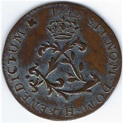 FRENCH REGIME 1745 Double Sol