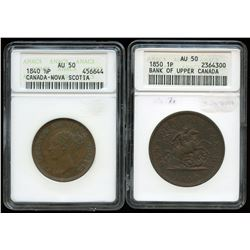 Pre-Confederation - Lot of 2 ANACS Graded Tokens