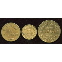 Ontario - Br. 793, 794, 839. Lot of three tokens