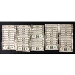 2017 Federal Reserve USA - Lot of 50 Consecutive Replacement Notes