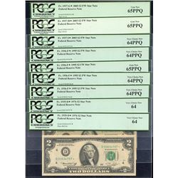 USA PCGS Graded Replacement $2 - Lot of 9.
