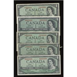 Bank/Dominion of Canada Interesting Serial Number - Lot of 7 Notes