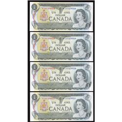Bank of Canada $1, 1973 Replacement - Lot of 3 Consecutives