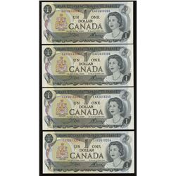 Bank of Canada $1, 1973 Replacement - Lot of 4 Consecutives