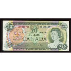 1969 Bank of Canada $20 - Low Serial Numbered Note