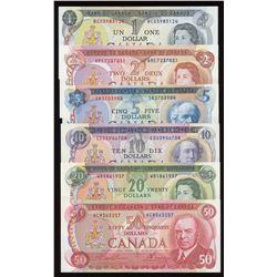 Bank of Canada $1 - $50 Multi-Colour Set