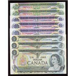 Bank of Canada Multi-Coloured Banknote Lot