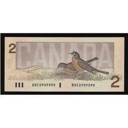 Bank of Canada $2, 1986 Radar