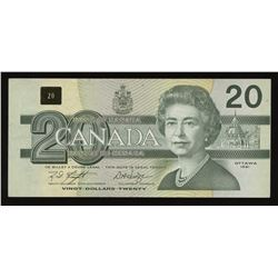 Bank of Canada $20, 1991 - Replacement Error