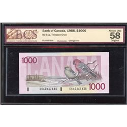 1988 Bank of Canada $1000