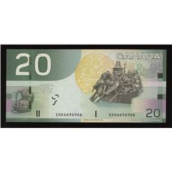 Bank of Canada $20, 2004 Radar & Rotator