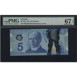 2013 Bank of Canada $5 - Changeover Macklem - Carney
